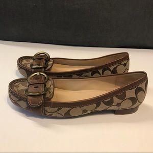 Coach Shoes - 8 1/2 women's Coach shoes 8.5 flats buckle pattern